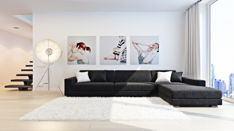 Wohnzimmer Kunst Wandgestaltung – bigschool.info