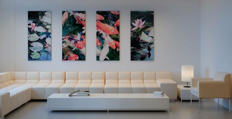 kreative Wanddeko Wohnzimmer Sofa Wandgemälde japanischer Stil