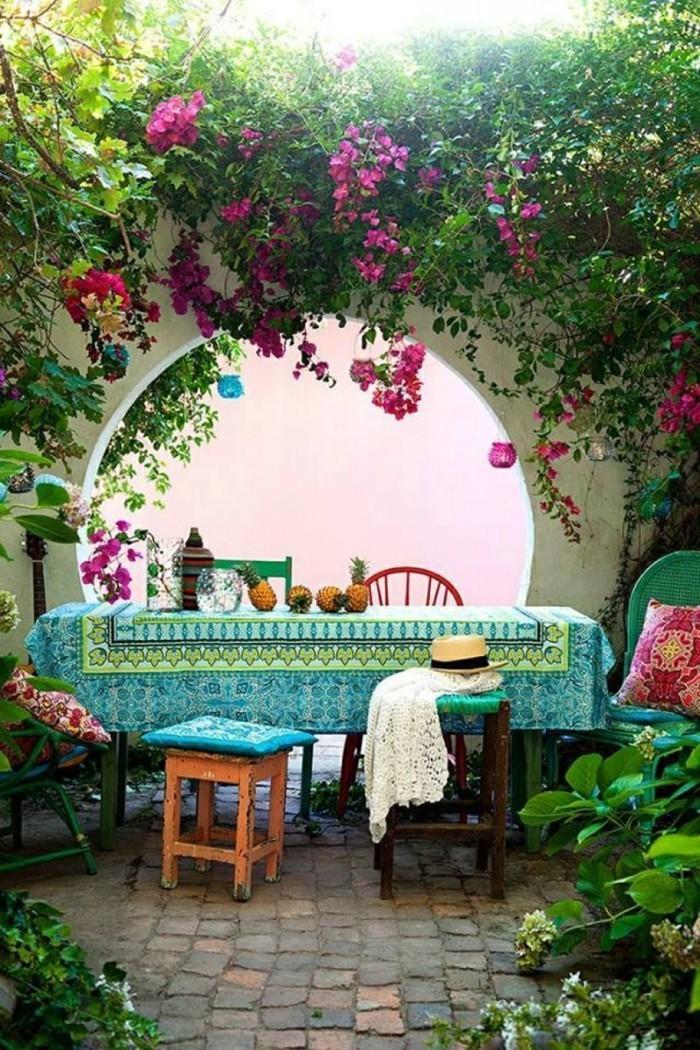 kreative gardenideen farbige dekoideen blumen gartenpflanzen