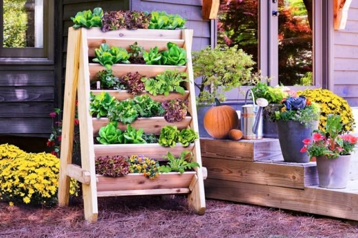 kreative gardenideen gartendeko treppe pflanzen vorgarten dekorieren