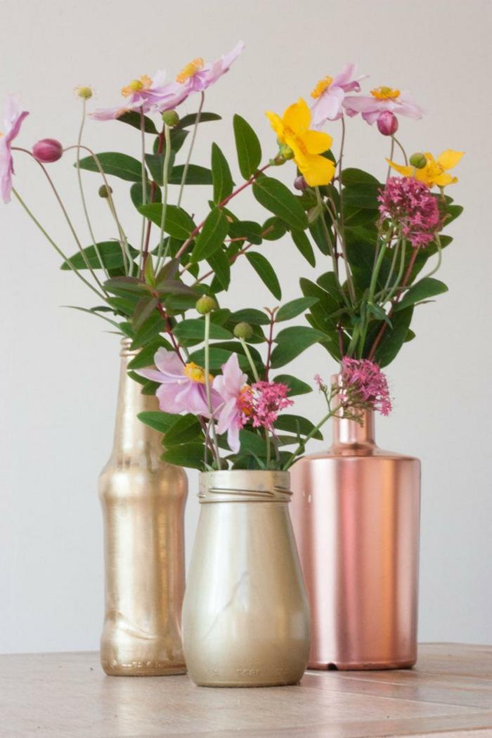 kreative wohnideen dekoideen einmachgläser bemalen vasen