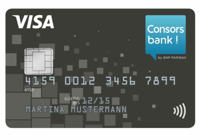 kredkarten Vergleich consors bank reise konditionen visa