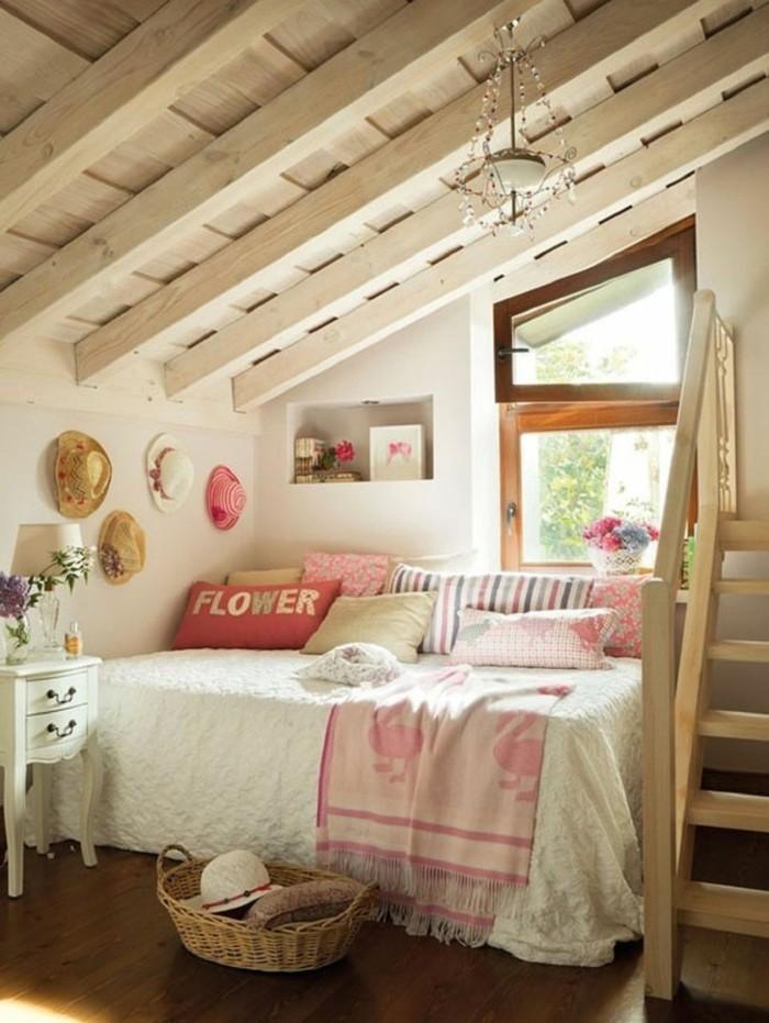 landhausstil schlafzimmer gemütlicher schlafbereich für mädchen