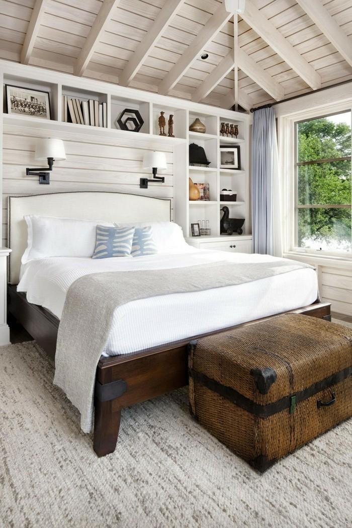 landhausstil schlafzimmer helle atmosphäre mit rustikalen akzenten