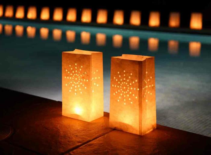 lateren mapion indirekte beleuchtung lichtfest lichterkette mysterie papier