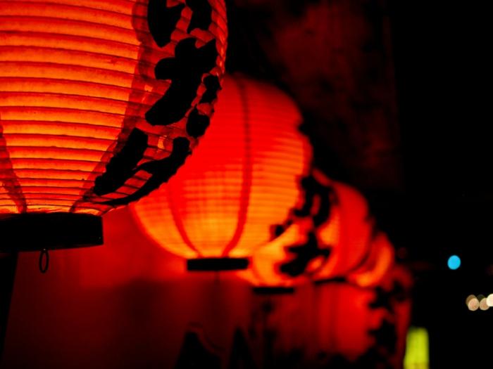 lateren mapion indirekte beleuchtung lichtfest lichterkette mysterie rot