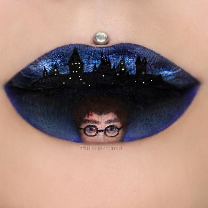 lippen schminken halloween ideen harry poter