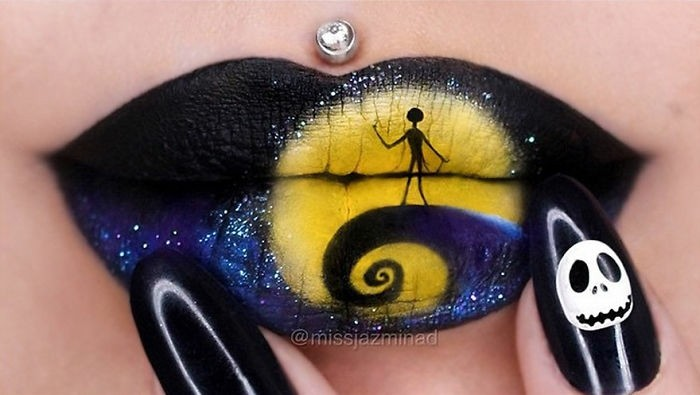 halloween party ideen make up nageldesign