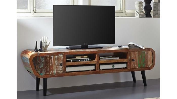 lowboard tv wohnzimmer ideen einrichten einrichtungsbeispiele holzmöbel diy ideen holz