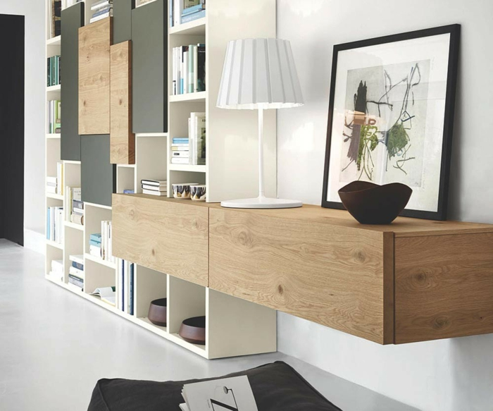 19 einrichtungsbeispiele mit lowboards. Black Bedroom Furniture Sets. Home Design Ideas