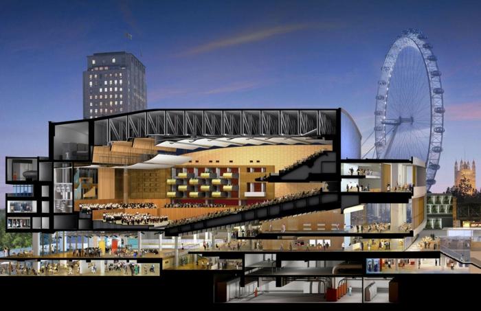 massivhaus bauen london southbank centre skizze bauplan