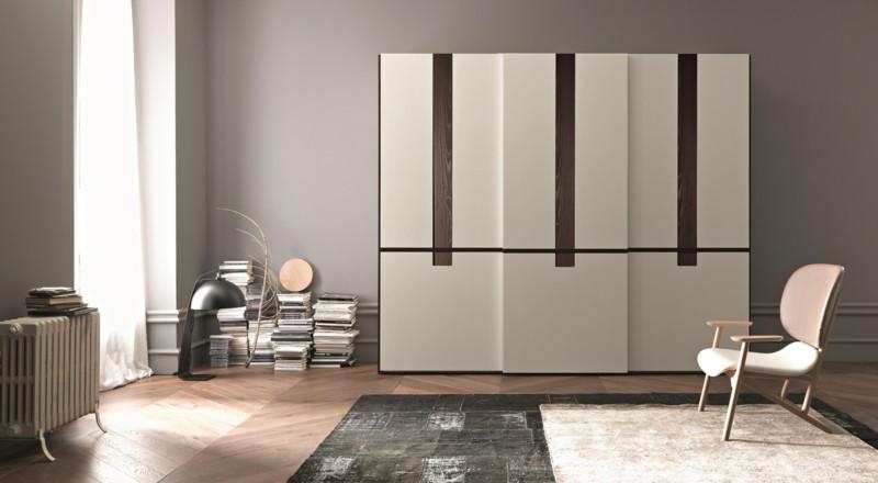 minimalistische Schlafzimmer Möbel Kleiderschränke mit Schiebetüren
