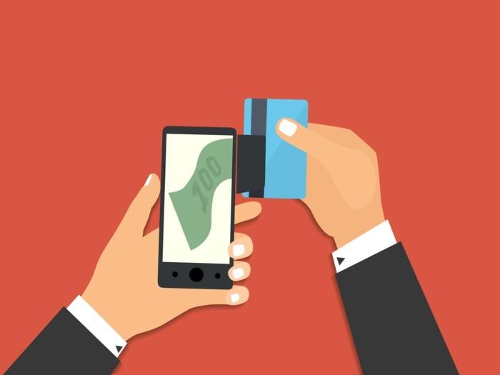 mit handy bezahlen illu titel illustration zukunft befehl virtuelles geld mobiles banking2