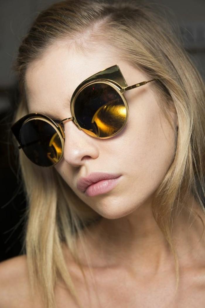 moderne Sonnenbrillen reflektierend rund Damen Modetrends Accessoires
