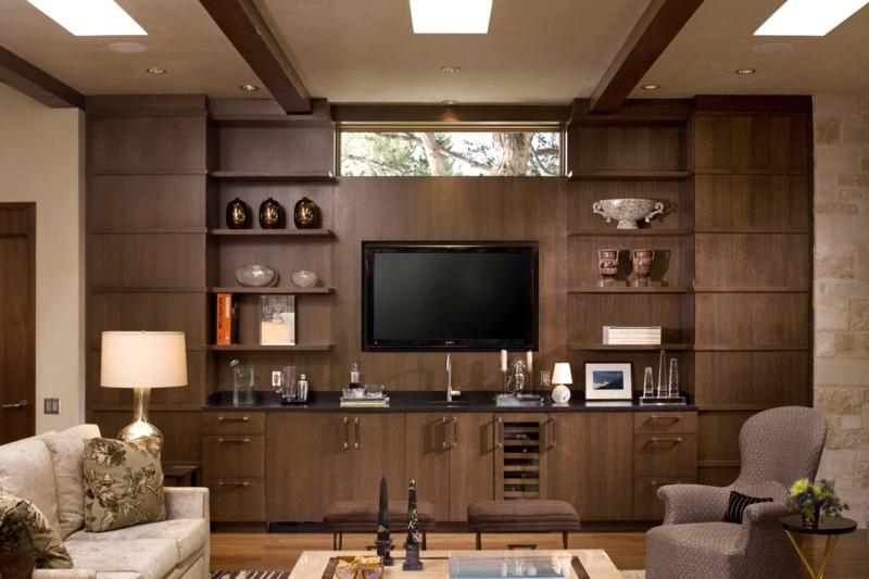Wohnwand Holz - Wohndesign