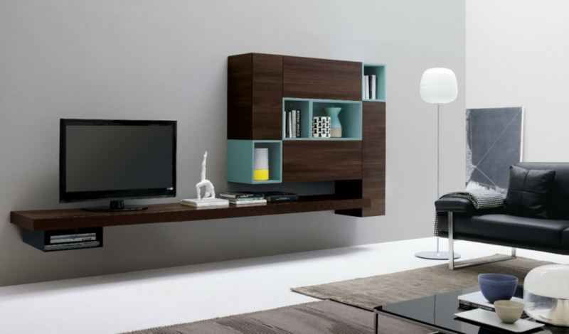 Wohnwand ideen modern for Wohnwand 50er