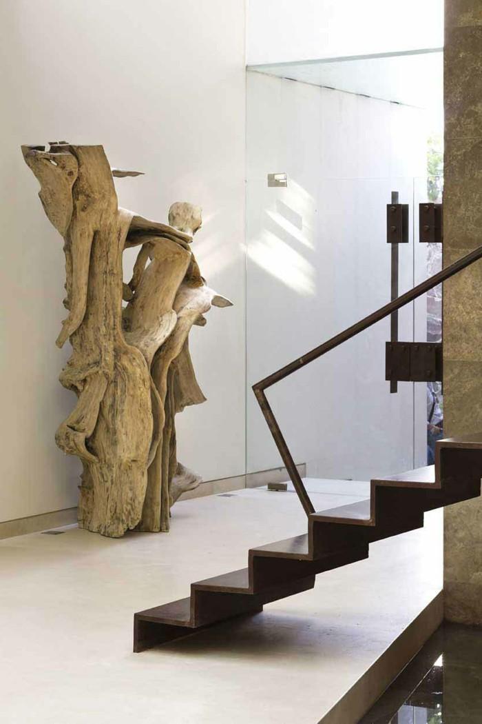 moderne treppen dekoideen skulpturen wohnideen