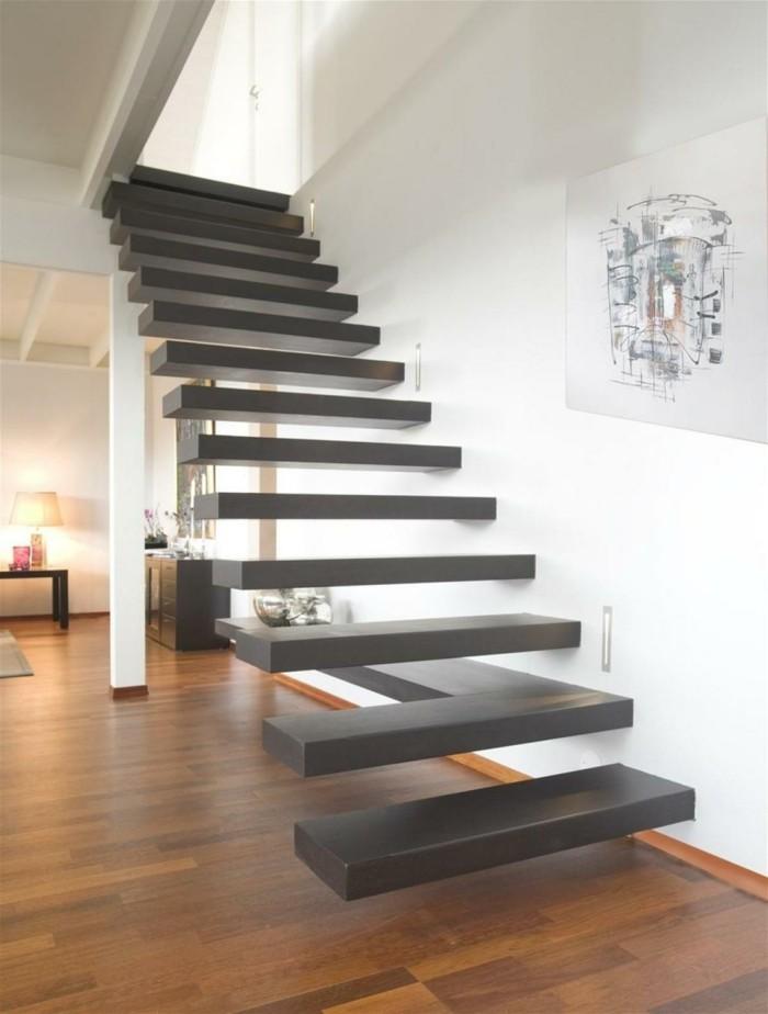 moderne treppen innentreppen material schwebende treppenstufen