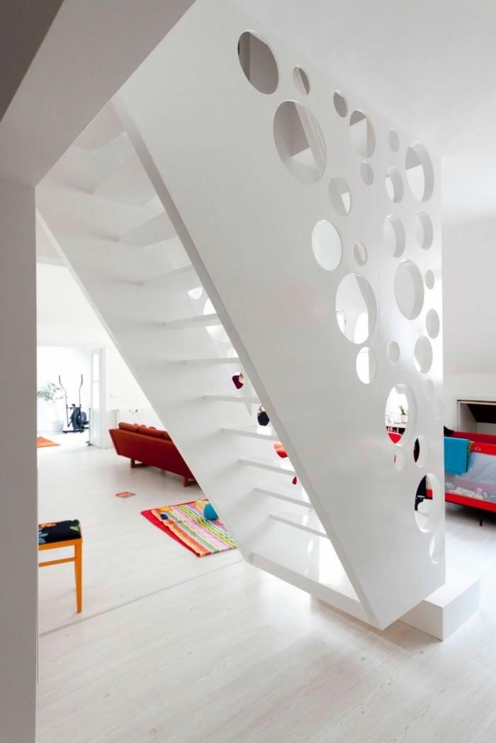 moderne treppen weiß moderne innenarchitektur farbige akzente