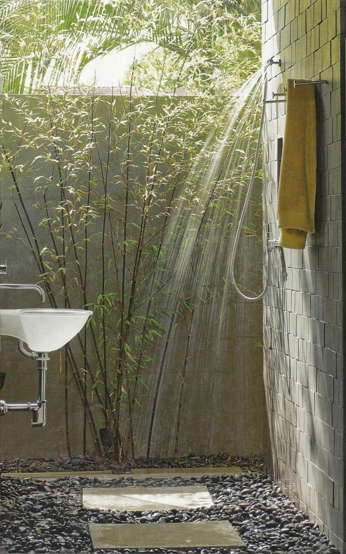Outdoor Dusche Balkon : Ideen Für Sommer Garten Gestalten Kletterpflanzen Fassade Pictures