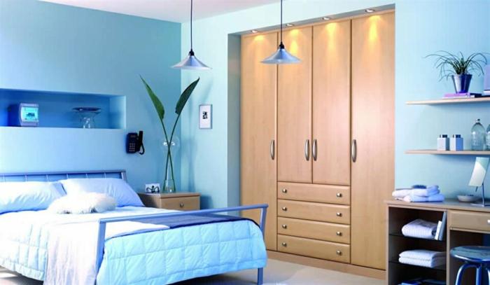 Schlafzimmer blau blaue schlafbereiche die schlaf