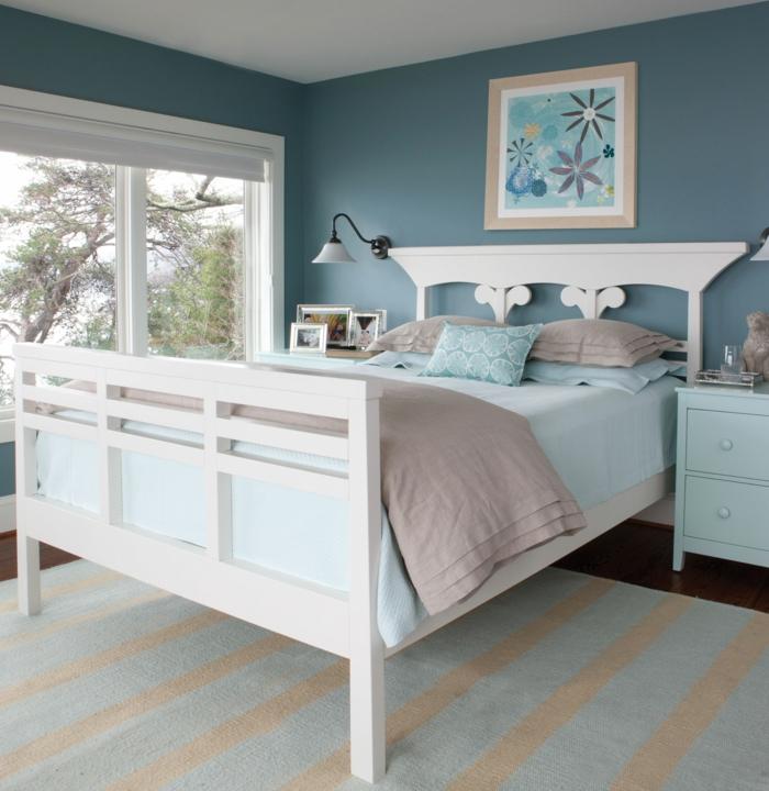 Schlafzimmer Blau - 50 blaue Schlafbereiche, die Schlaf und ...