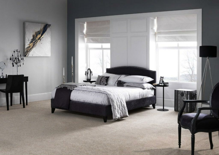 teppichboden grau schlafzimmer. Black Bedroom Furniture Sets. Home Design Ideas