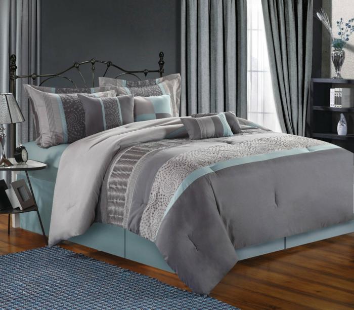 Schlafzimmer Wandfarbe Grau 18: 88 Schlafzimmer Mit Deutlicher Präsenz