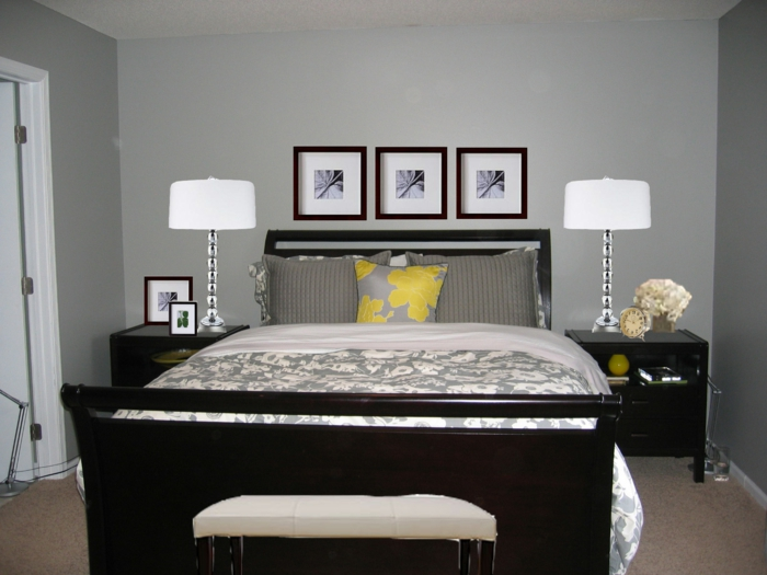Schlafzimmer Graue Wand: Wandfarbe Ideen (. Bilder) ROOMIDO. Graue ...