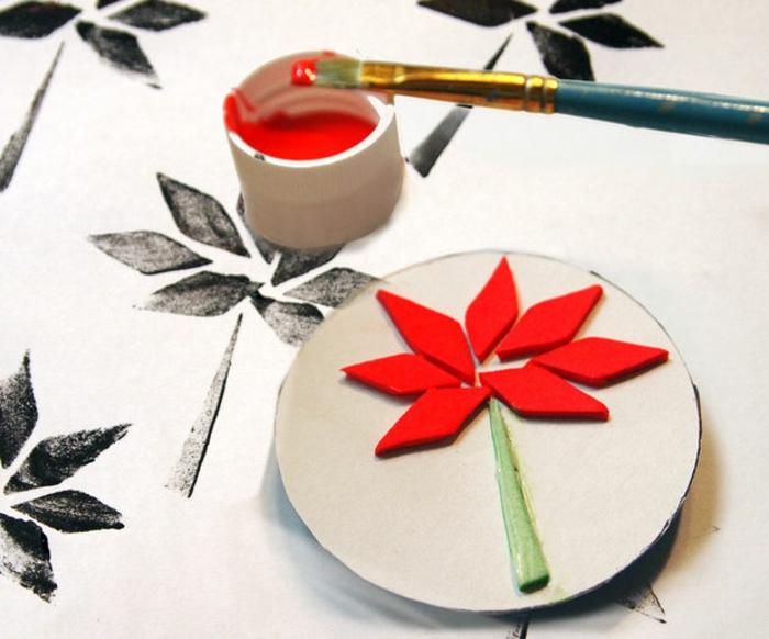 diy ideen bastelideen rollen ornamentierung blume