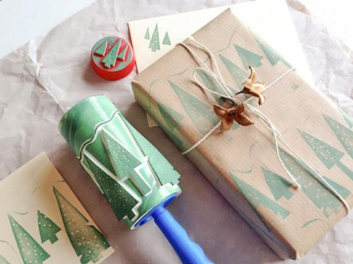 diy ideen bastelideen rollen ornamentierung weihnachten geschenkpapier