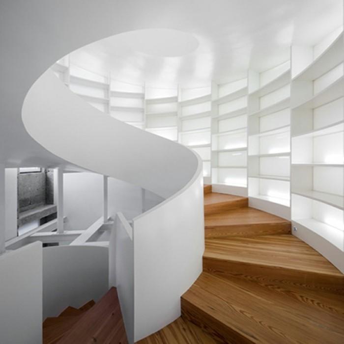 treppengestaltung futuristische treppen organisch holz beton