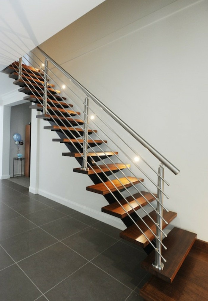 treppengestaltung holz stahl moderne innenarchitektur