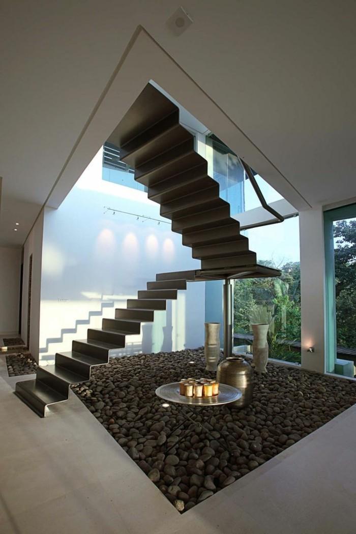 treppengestaltung innentreppen futuristisches design moderne innenarchitektur