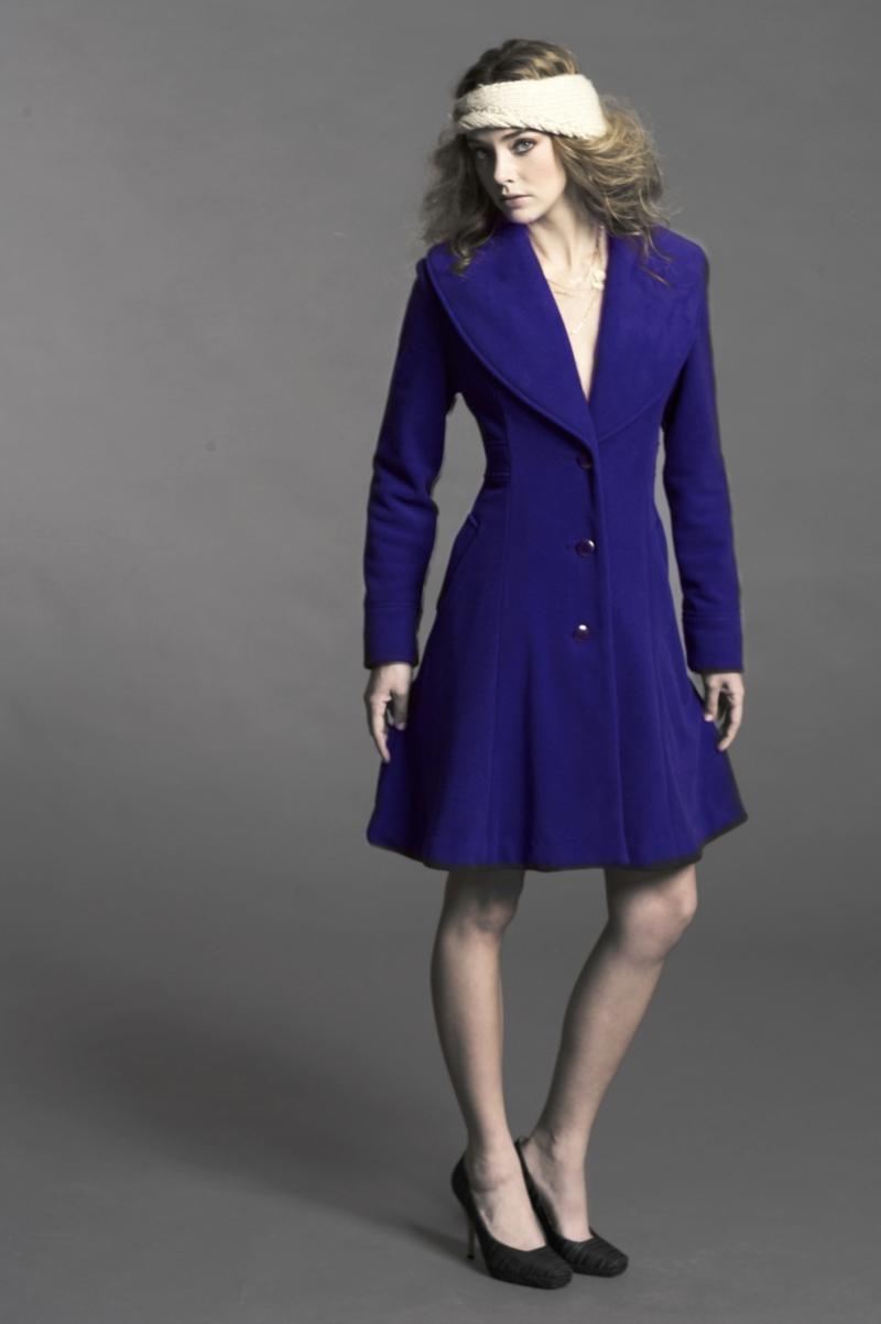 vegane Mode Vaute Couture El coat Blue
