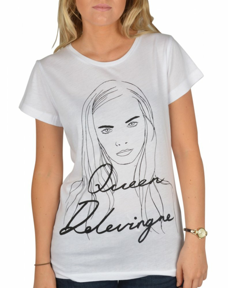 vegane Mode black score queen cara delevingne t-shirt