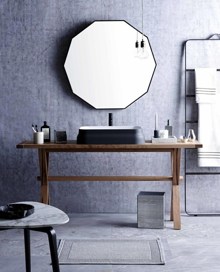 waschbecken design schwarz keramik haturholz waschtisch