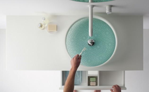 waschbecken-design-zähne-putzen-weißer-waschtisch-armatur