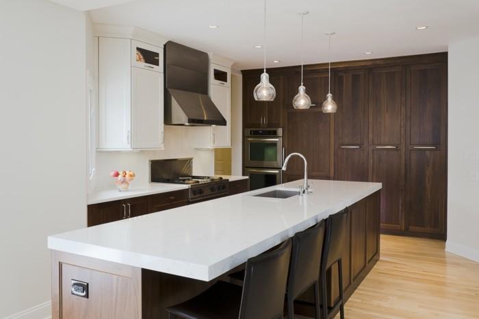 wohnideen küche elegante küchenschränke kücheninsel