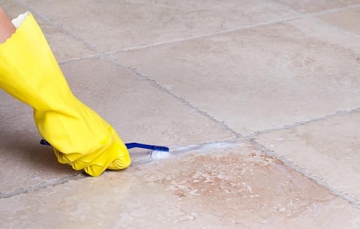 wohnideen reinigung tipps fliesen bürste