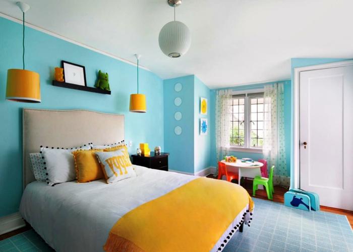 Schon Blaue Wande Schlafzimmer ~ Dekoration Und Interior Design Als Inspiration  Für Sie