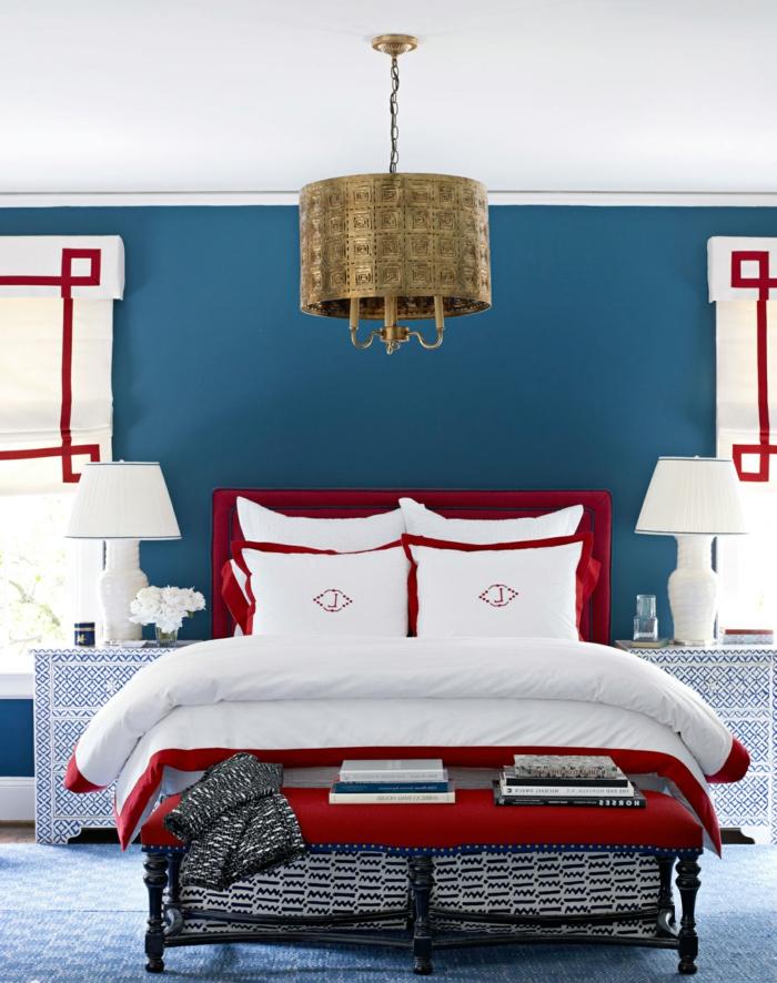 Wohnideen Für Schlafzimmer Wände schlafzimmer blau 50 blaue schlafbereiche die schlaf und erholung