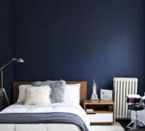 Schlafzimmer ideen f r ihren gesunden schlaf und eine bessere entspannung freshideen 1 - Dunkelblaue wand ...