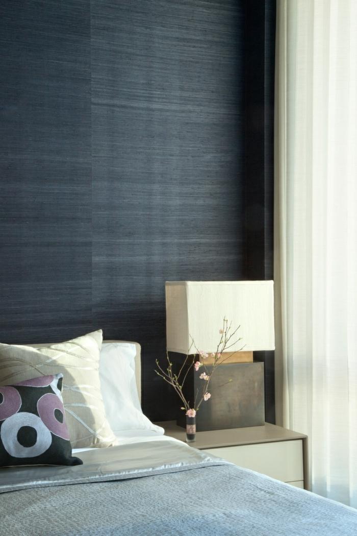 wohnideen schlafzimmer elegant dekoideen graue tapete
