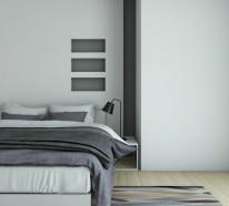 Schlafzimmer in Grau – 88 Schlafzimmer mit deutlicher Präsenz von Grau
