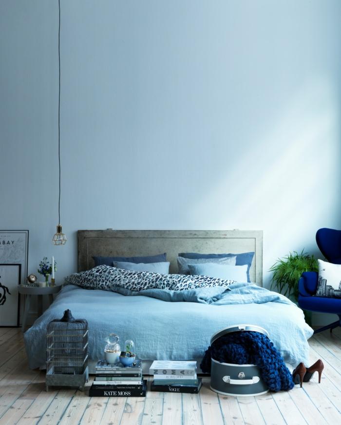 Schlafzimmer Blau 50 Blaue Schlafbereiche Die Schlaf Und Erholung