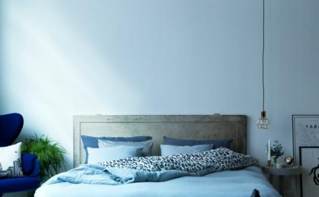 ... Wandgestaltung 1000 Schlafzimmer Ideen Wandtattoo Schlafzimmer  Wandfarbe Taubenblau Wandgestaltung Ideen Mit Blauen Flachbildfernseher An  Die Wand ...