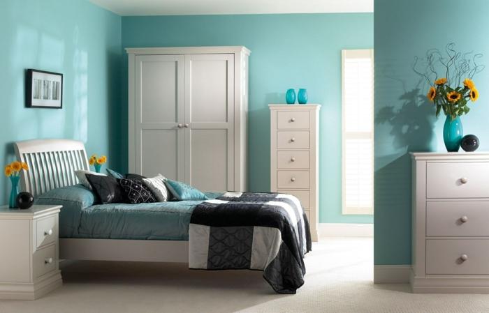 Schlafzimmer Blau 50 Blaue Schlafbereiche Die Schlaf Und Erholung. Wandfarbe  Schlafzimmer ...