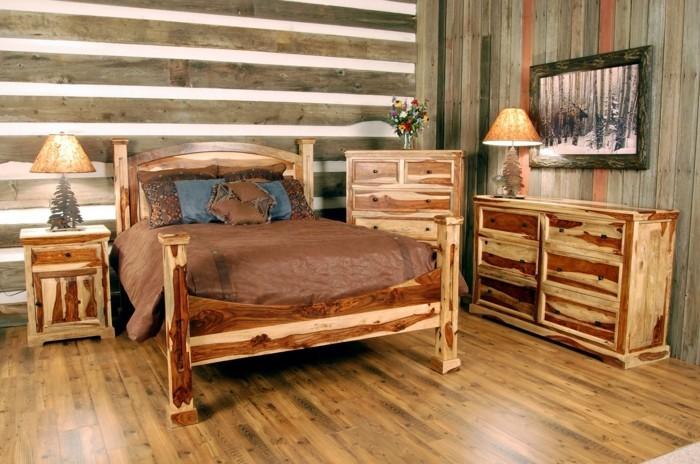 wohnideen schlafzimmer holzboden ausgefallene möbel