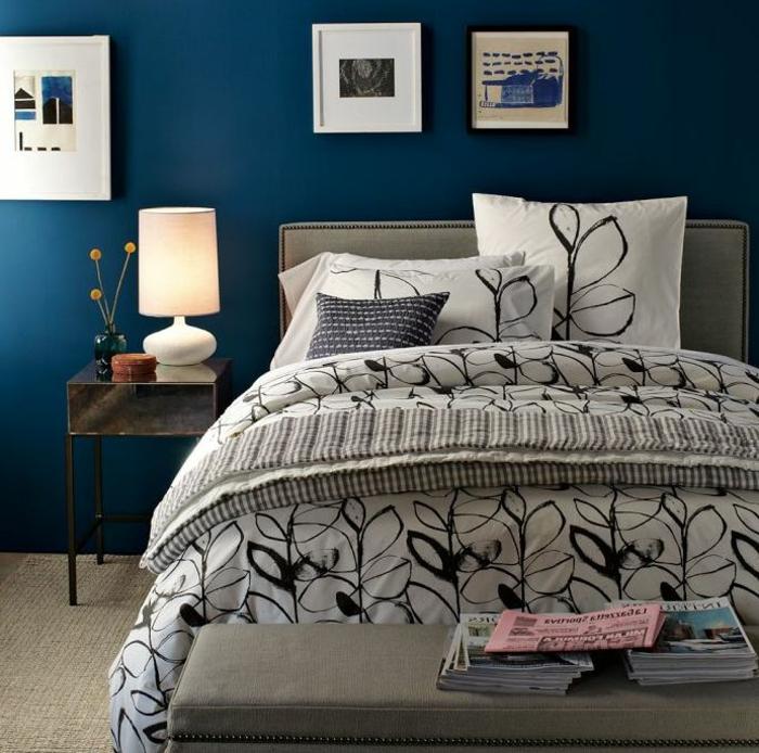 Schlafzimmer blau 50 blaue schlafbereiche die schlaf - Muster wandfarbe ...